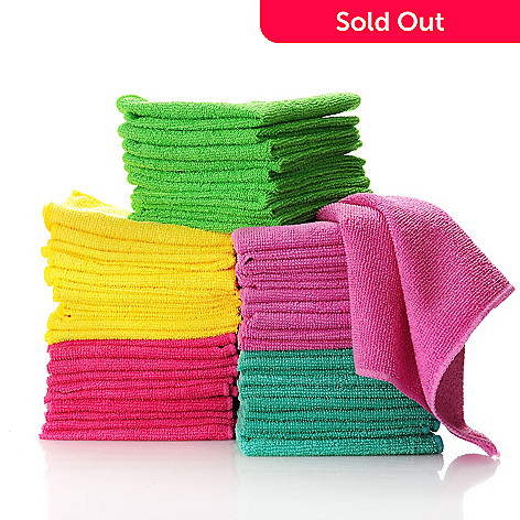 436-370 - Skip Scrub Set of 50 Multi Color Microfiber Towels