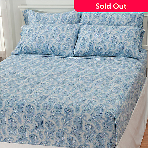 436-401 - Cozelle® Paisley Microfiber Six-Piece Sheet Set