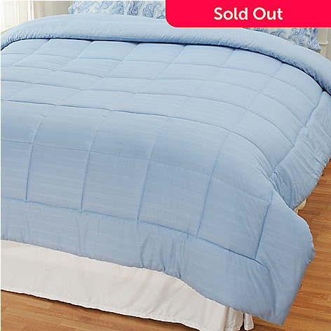 436-403 - Cozelle® Microfiber Dobby Stripe Down Alternative Comforter