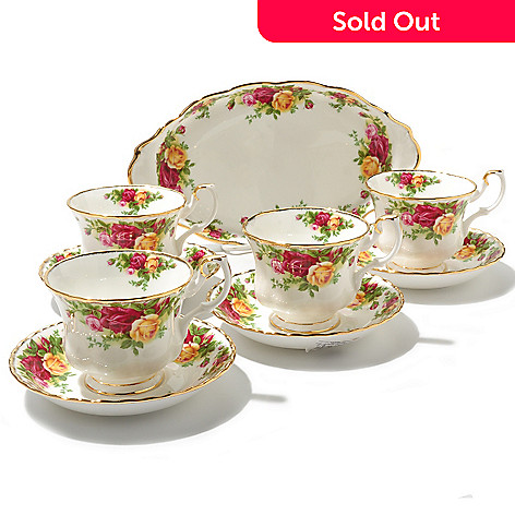436-422 - Royal Albert® Old Country Roses Nine-Piece Bone China Tea Set Completer