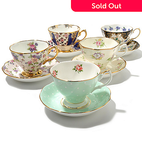 436-426 - Royal Albert ''100 Years'' Best-Selling 10-Piece Teacup & Saucer Set