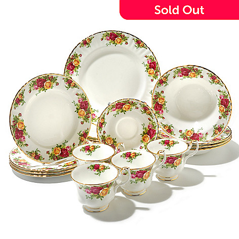 436-427 - Royal Albert Old Country Roses 20-Piece Bone China Dinner Set