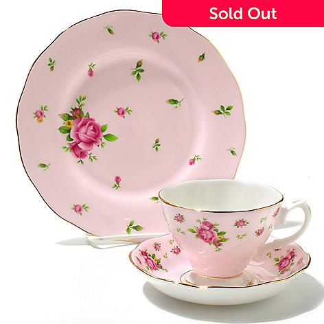 436-431 - Royal Albert New Country Roses Three-Piece Bone China Tea Set