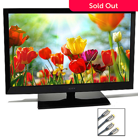 436-477 - Apex® 40'' 1080p 120Hz Ultra-Thin LED HDTV w/ Two Premium 9' HDMI Cables