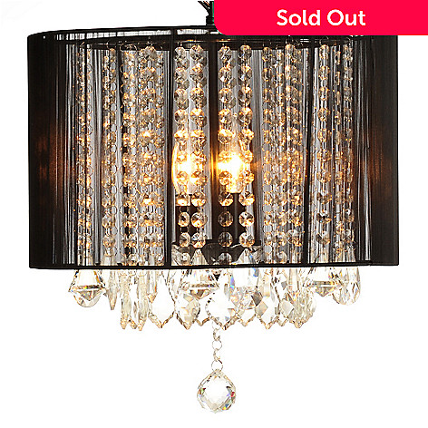 436-494 - Gallery 15'' Mystic Crystal Glass Chandelier w/ Shade