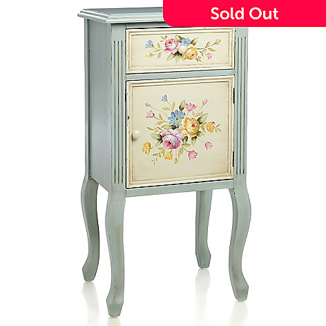 436-501 - Style at Home with Margie 34.6'' Spring Garden Hand-Painted Side Table