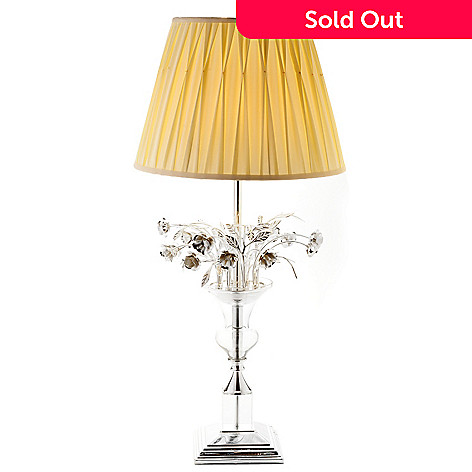 436-502 - Style at Home with Margie 39.5'' Blooming Roses Whimsical Table Lamp