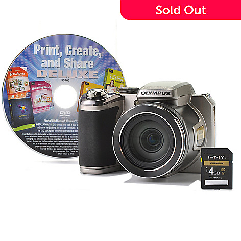 436-534 - Olympus® 40x Ultra-Zoom 14MP 1080p HD Camera w/ Software & 4GB SDHC Card