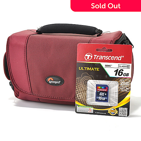 436-557 - Lowepro® Camera Case & Transcend 16GB SDHC Memory Card