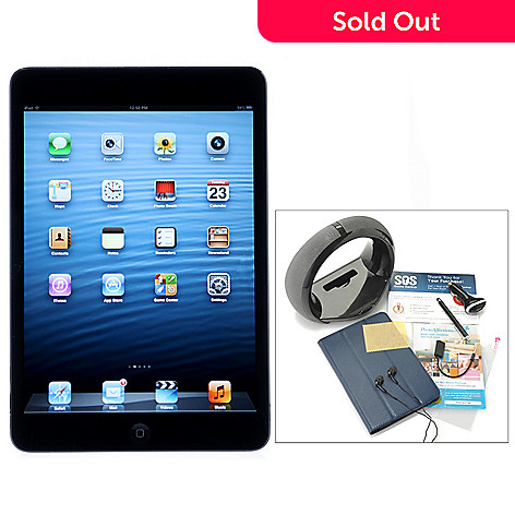 436-573 - Apple® iPad® Mini 7.9'' LED Touch Wi-Fi or Wi-Fi+4G Tablet w/ Accessories & Gift Certificates