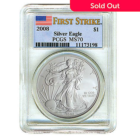 436-647 - 2008 Silver MS70 PCGS American Eagle Coin