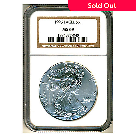 436-648 - 1996 Silver MS69 NGC American Eagle Coin