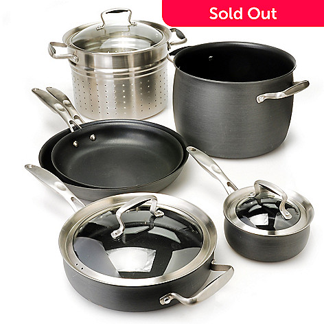 436-657 - Macy's Tools of the Trade® Belgique® Hard Anodized Nine-Piece Cookware Set