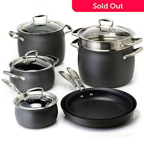 436-658 - Macy's Tools of the Trade® Belgique® Hard Anodized 11-Piece Cookware Set