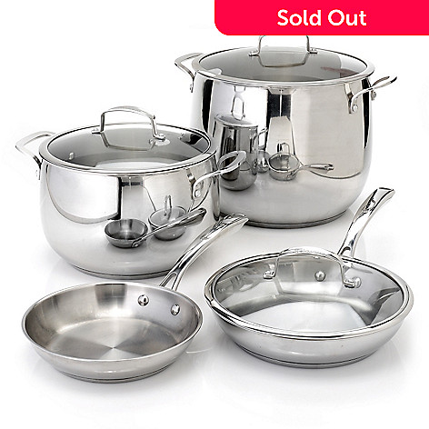 436-659 - Macy's Tools of the Trade Belgique 7-Piece Stainless Steel Cookware Set