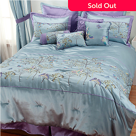 436-667 - North Shore Linens™ 10-Piece Monarch Embroidery Bedding Ensemble