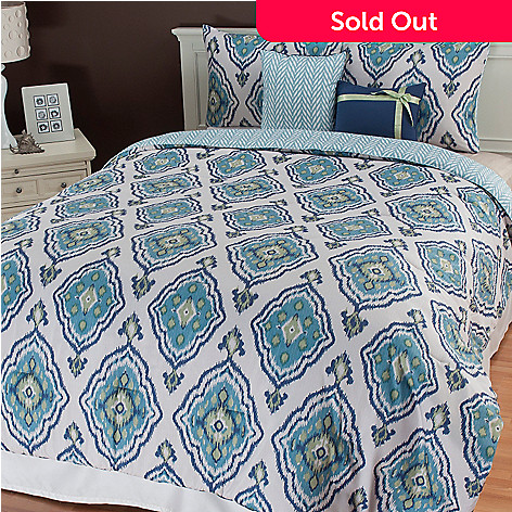 436-669 - North Shore Linens™ ''Weston'' Five-Piece Reversible Bedding Ensemble