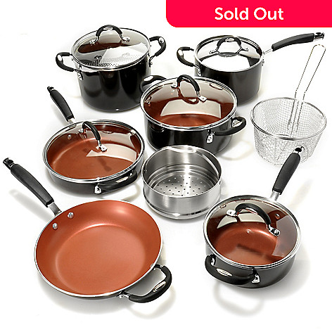 436-681 - Tramontina® Porcelain Enamel Color Nonstick Aluminum 14-Piece Cookware Set