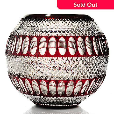 436-682 - House of Waterford Colleen 60th Anniversary 12'' Crystal Rose Bowl