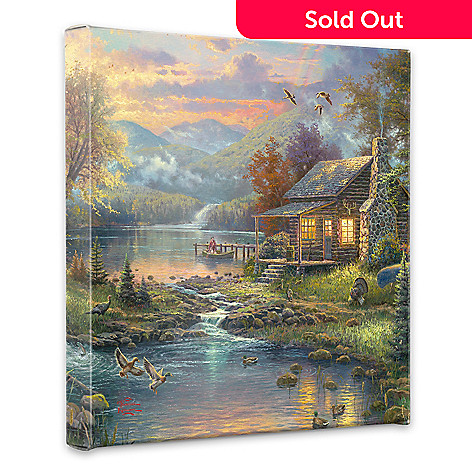 436-693 - Thomas Kinkade ''Nature's Paradise'' 14'' x 14'' Gallery Wrap