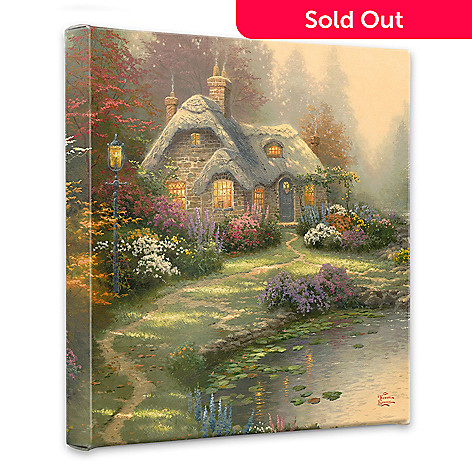 436-696 - Thomas Kinkade ''Everette's Cottage'' 14'' x 14'' Gallery Wrap