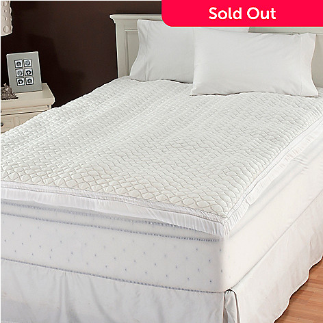 436-704 - Cozelle® 2'' Gusseted Mattress Pad w/ Fitted Skirt & Water Guard