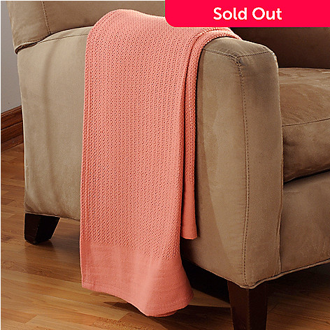 436-788 - Cozelle® 100% Cotton Basket Weave 60'' x 50'' Throw