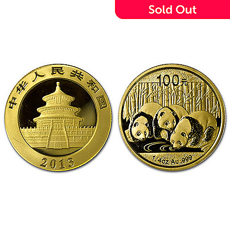 436-839 - 2013 100 Yuan 1/4 oz Gold BU China Panda Coin w/ Display Box