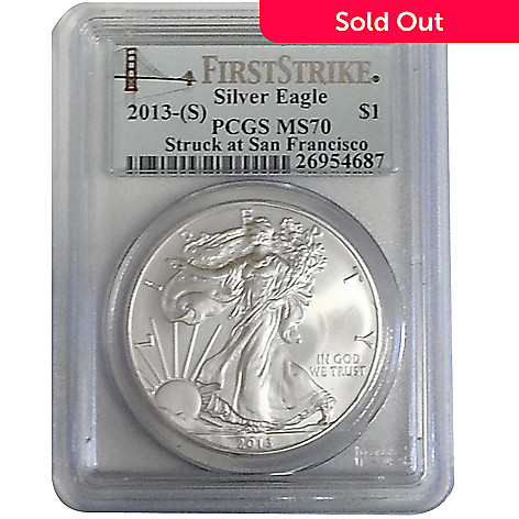 436-845 -  2013 Silver Eagle First Strike MS70 PCGS (S) Coin