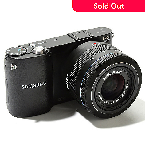 436-848 - Samsung 20.3MP 20-50mm Lens Full HD Wi-Fi Compact Camera w/ Case & 8GB SDHC Card