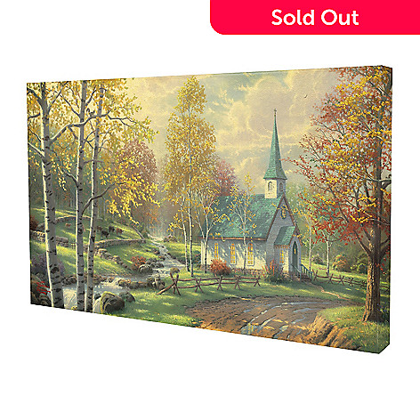 436-860 -  Thomas Kinkade ''Aspen Chapel'' 16'' x 31'' Gallery Wrap