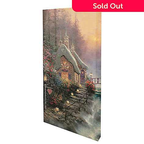 436-861 - Thomas Kinkade ''Sweetheart Cottage II'' 31'' x 16'' Gallery Wrap