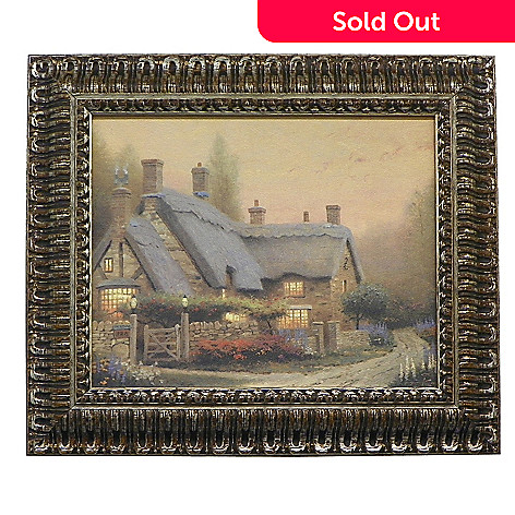 436-864 - Thomas Kinkade ''McKenna's Cottage'' Framed Textured Print