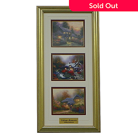 436-867 - Thomas Kinkade Portfolio Collection ''Cottage Memories'' Framed Print