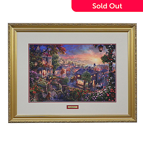 436-871 - Thomas Kinkade ''Lady and the Tramp'' Limited Edition Framed Print