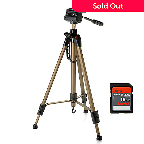 436-876 - Dolica® 63'' Lightweight Tripod w/ Carrying Case & SanDisk® 16GB SDHC Memory Card