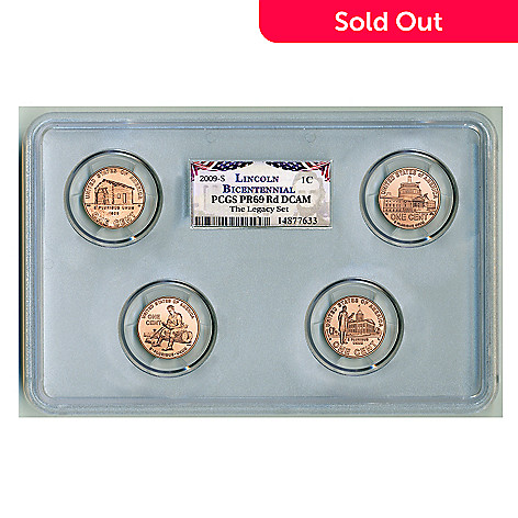 436-881 - 2009 Lincoln Cent PR69DCAM PCGS (S) Set of Four Coins