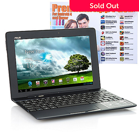 436-900 - ASUS® Transformer Pad 10.1'' Google Android™ 4.1 Wi-Fi Tablet w/ Keyboard Dock & App Pack