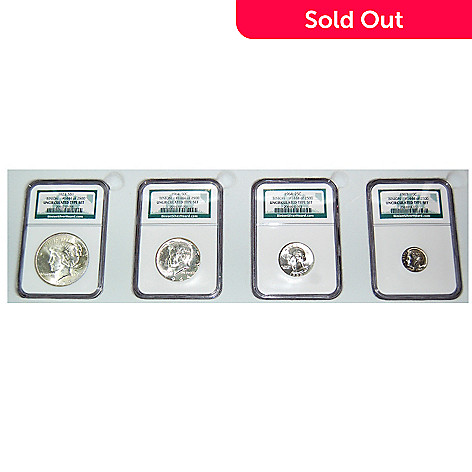 436-995 - 1922-1964 Silver Binion Hoard Limited Edition Uncirculated NGC Four-Piece Coin Set