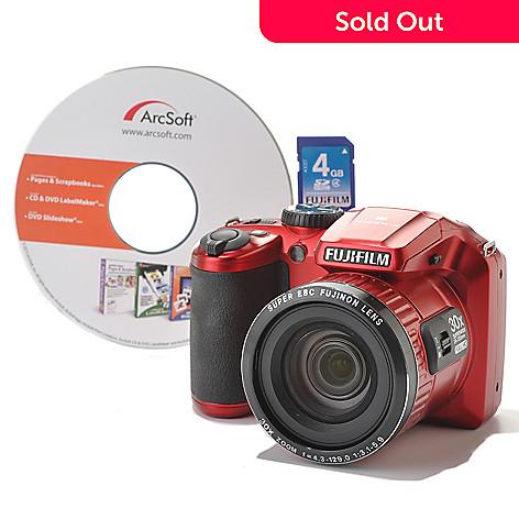 437-023 - Fujifilm FinePix 16MP 30x Zoom 1080i HD Camera w/ Software & 4GB Memory Card