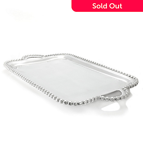 437-048 - Jorge Pérez Imperial Bead 18'' Rectangular Serving Tray w/ Handles