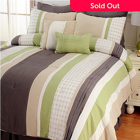 437-119 - North Shore Linens™ ''Madison'' Eight-Piece Bedding Ensemble