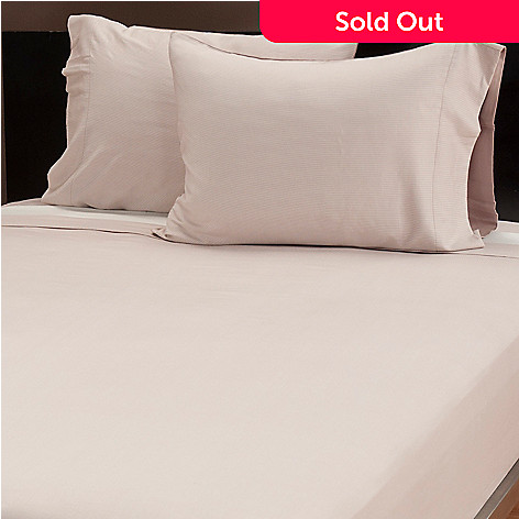 437-124 - Grand Suites® Viscose from Bamboo/Cotton Striped Four-Piece Sheet Set