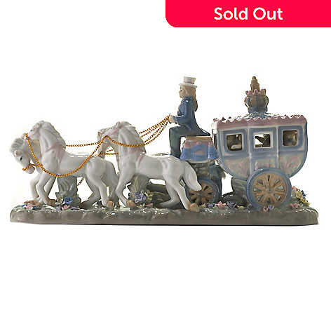 437-134 - Sorelle® ''Off to the Ball'' Limited Edition 16'' Porcelain Carriage Figurine