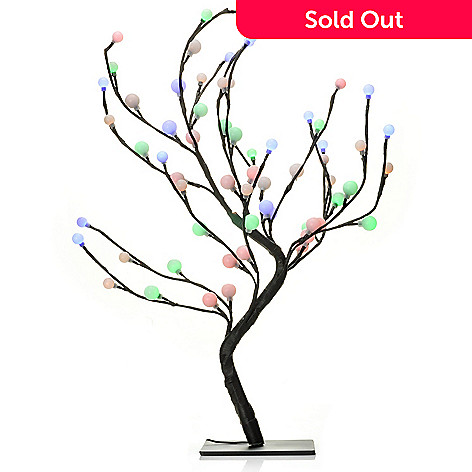 437-180 - Style at Home with Margie 24'' Blooming Berries LED Tree