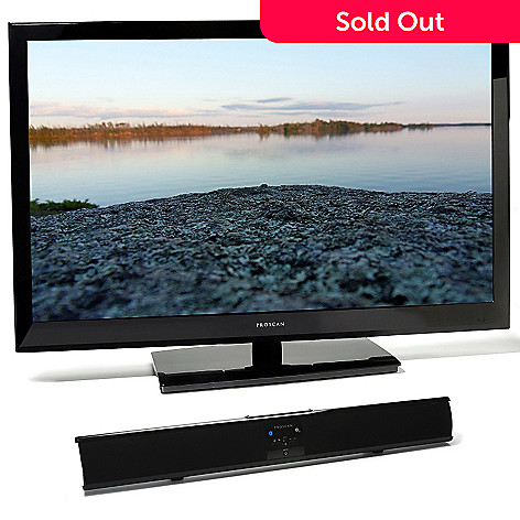 437-211 - Proscan 46'' Ultra-Slim LED 1080p HDTV w/ 32'' Bluetooth® Soundbar