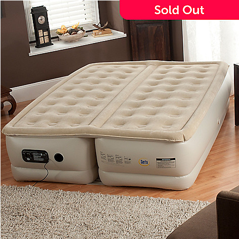 437-266 - Serta® Perfect Sleeper® 18'' Queen Air Mattress w/ Dual Comfort Controls