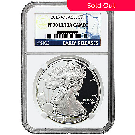 437-297 - 2013 Silver Eagle Proof PF 70 Ultra Cameo Early Release NGC (W) Coin