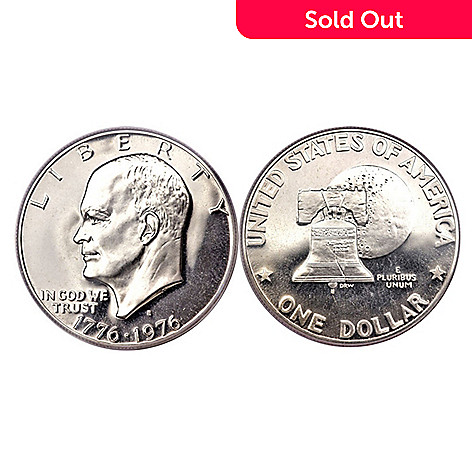 437-299 - 1976 Silver Eisenhower Last US Silver Issue Dollar UNC (S) Coin