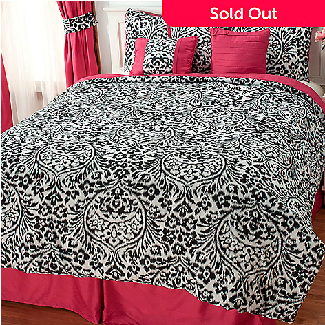 437-327 - North Shore Linens™ Floral Seven-Piece Bedding Ensemble
